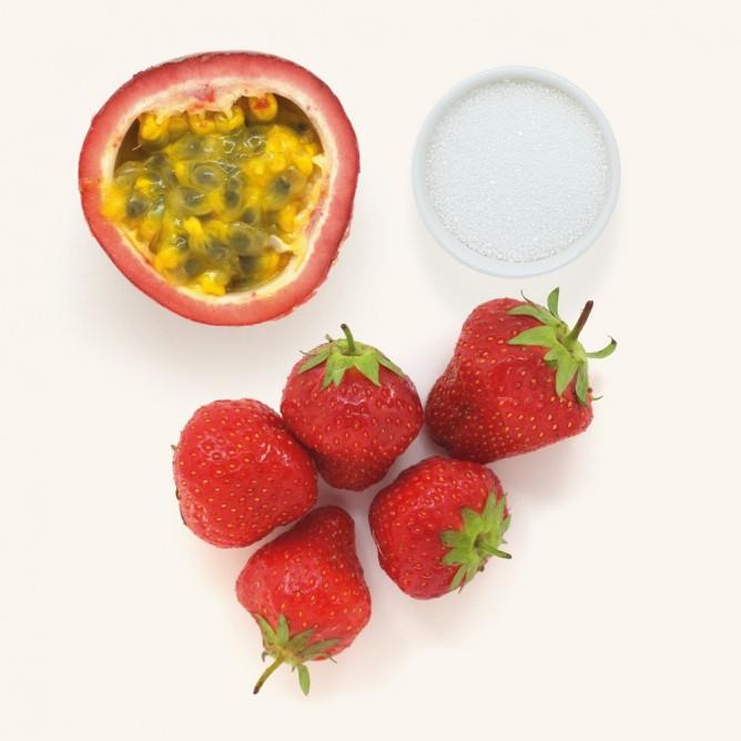 Erdbeer-Maracuja-Fruchtaufstrich